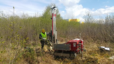 Cone geotechnical penetration test